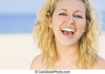 bonito, natural, risada