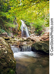 bonito, natureza, Cachoeira, Outono, Composição, paisagem