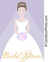 bonito, noiva, flor, bouquet.
