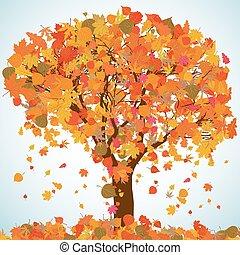 bonito, outono, árvore, para, seu, design., eps, 8