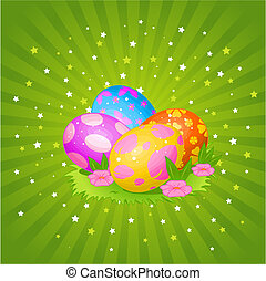 bonito, ovos páscoa, fundo