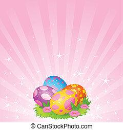 bonito, ovos, páscoa, fundo