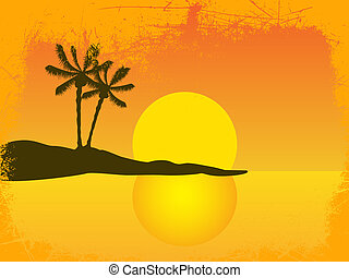 bonito, pôr do sol