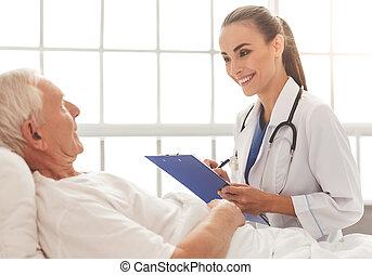 bonito, paciente, doutor