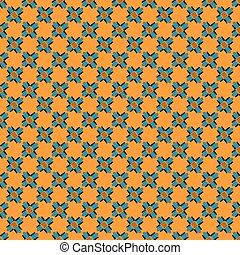 bonito, padrão, abstratos, seamless, objetos, fundo, laranja