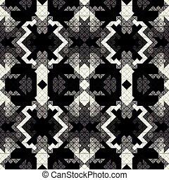 bonito, padrão, seamless, ilustração, vetorial, monocromático, pixel