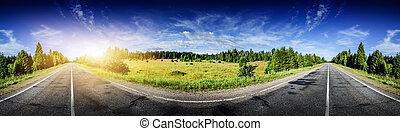 bonito, panorama, estrada