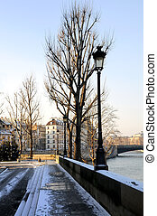 bonito, parisian, sol, ruas, vista