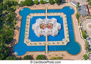 bonito, pattaya, thailand., piscina, natação