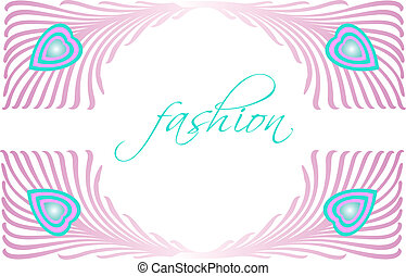bonito, pavão, moda, glamour, vetorial, desenho, pena
