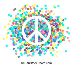 bonito, peace., símbolo paz, sinal.