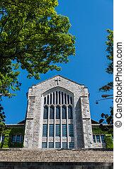 bonito, pedra azul, antigas, céu, 2, igreja