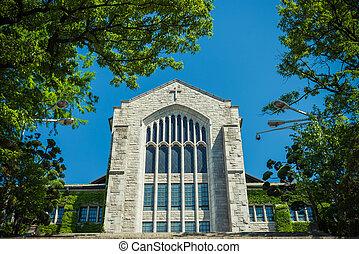 bonito, pedra azul, antigas, céu, igreja