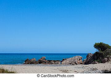 bonito, pequeno, praia, costa