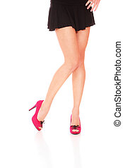 bonito, pernas, femininas