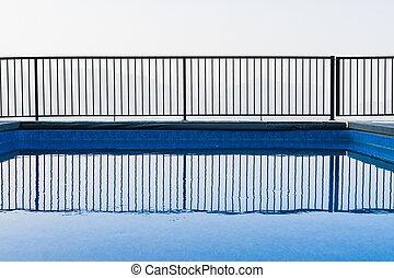 bonito, piscina, instalação