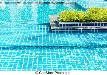 bonito, piscina, natação