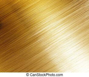 bonito, polido, ouro, textura