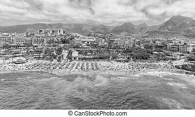 bonito, praia tropical, vista aérea