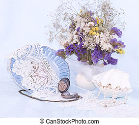 bonito, primavera, flores, pérola