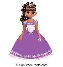 bonito, princesa, diadema