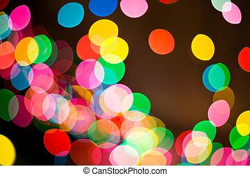 bonito, quadro, bokeh, fundo, luzes