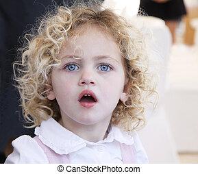 bonito, retrato, toddler