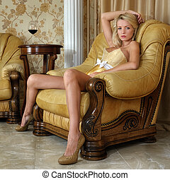 bonito, roupa interior, mulher, luxo, interior.