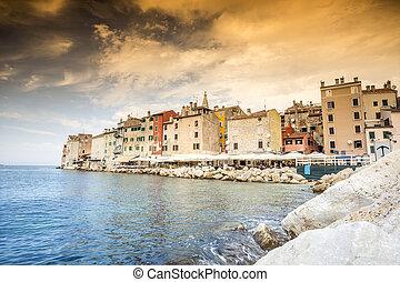 bonito,  Rovinj, histórico, Croácia
