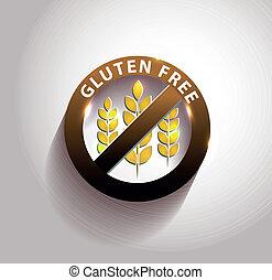bonito, símbolo, gluten, livre