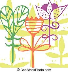 bonito, t-shirt., cartão postal, gradient., cor, ilustração, vetorial, desenho, convite