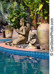 bonito, tailandia, piscina, natação