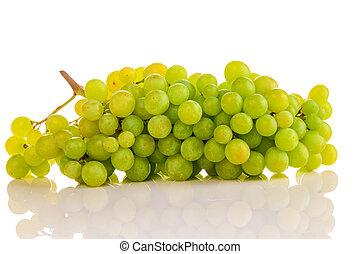 bonito, verde, maduro, uvas