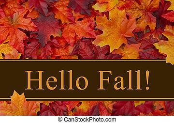 bonjour, automne, message