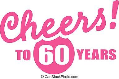 bonne disposition, 60th, -, années, 60, anniversaire