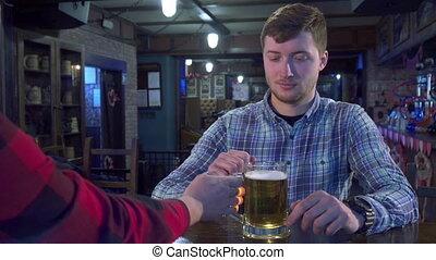 bonne disposition, barman, homme