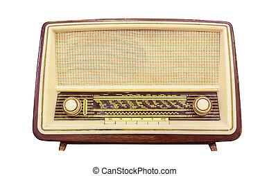 bonne radio, isolé, à, attachant voie accès