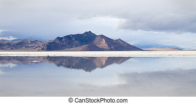 Bonneville Salt Flats reflection