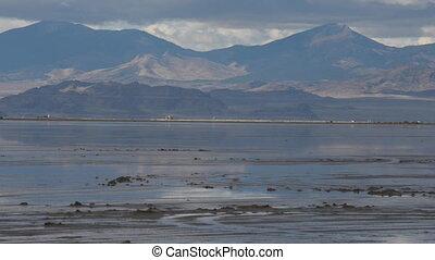 Bonneville Salt Flats Utah - Bonneville Salt Flats covered...