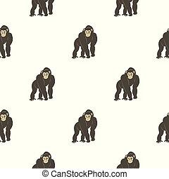 Bonobo monkey pattern seamless