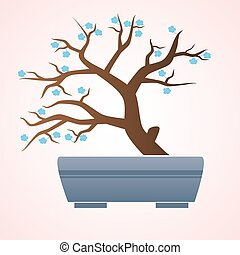 bonsai, japón, china, o