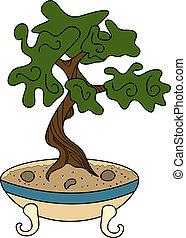 bonsai, stile, giapponese