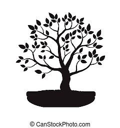 Bonsai Tree. Illustration.