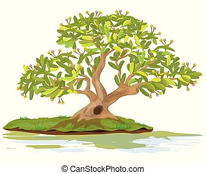 bonsai tree vector design