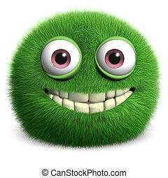 bontachtig, groen monster