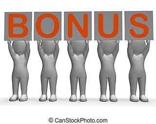 Bonus Banner Shows Promotional Gifts And Rewards