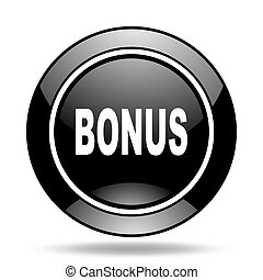 bonus black glossy icon