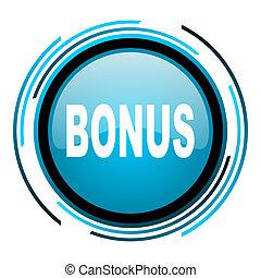 bonus blue circle glossy icon