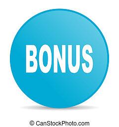 bonus blue circle web glossy icon