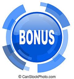 bonus blue glossy circle modern web icon